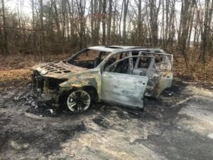Stolen Vehicle Found Fully Engulfed in Mechanicsville, Police Currently Investigating Vehicle Break-in and Vehicle Stolen from Same Street