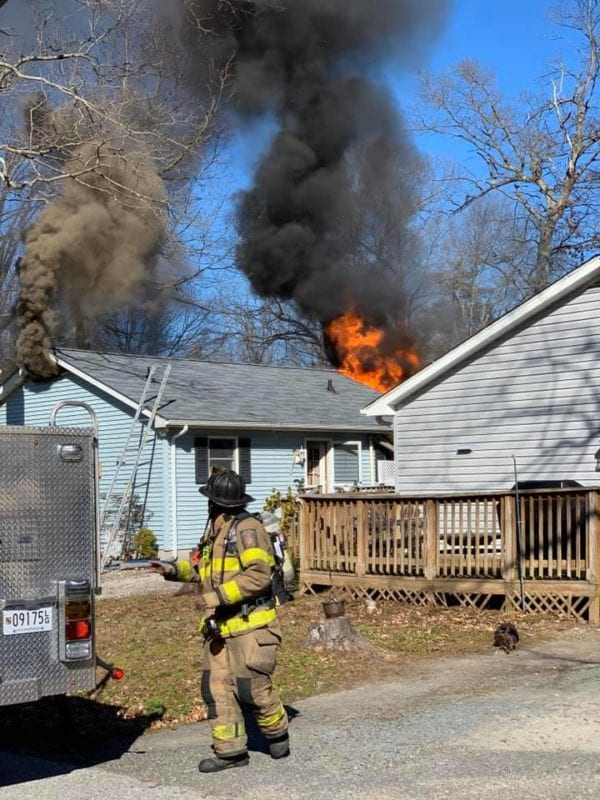 House Fire in Lusby Displaces Three Adults, Firefighters Report Fire Accidental and Caused by Grill
