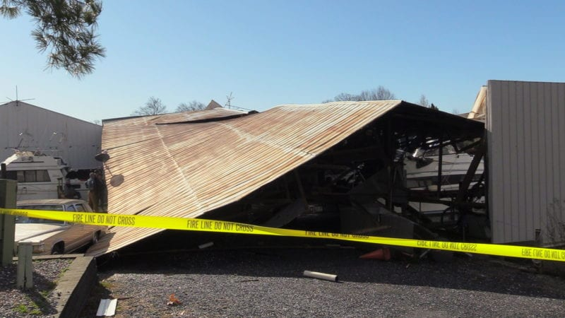 No Injuries Reported After Structure Collapse at Beacon Marina in Solomons