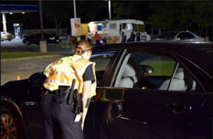 The Prince George's County Police Department Conducting Field Sobriety Checkpoint, Friday, February 21