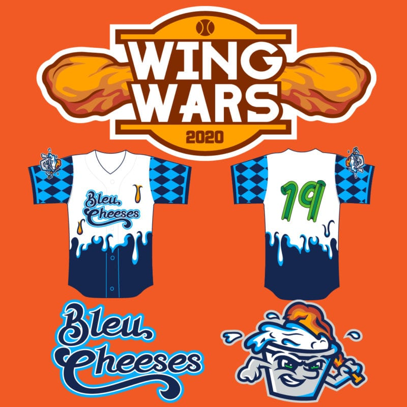 "Southern Maryland Blue Crabs Change Name to ""Bleu Cheeses"" Every Thursday at Home Games as part of Wing Wars Promotion"