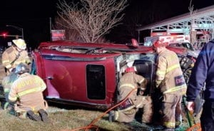 VIDEO: One Transported to Trauma Center After Rollover Collision in Lexington Park