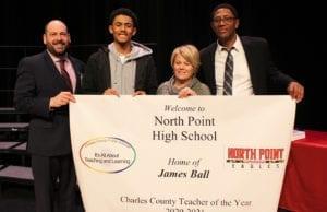 North Point High School Art Teacher James Ball Named 2020 Charles County Teacher of the Year.