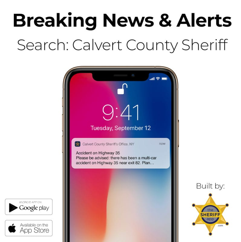 Calvert County Sheriff's Office Announces Release of Mobile App