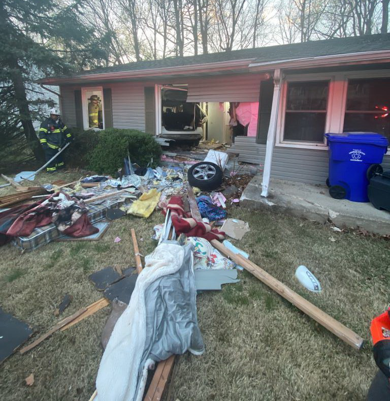 No Injuries After Vehicle Hits Multiple Houses in Bryans Road