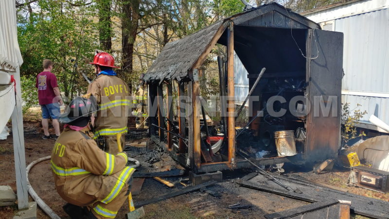 No Injuries Reported After Shed Fire Damages Multiple Trailers in Lexington Park