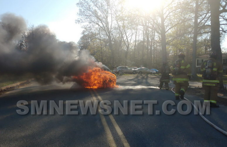 No Injuries Reported After Vehicle Fire in Lexington Park