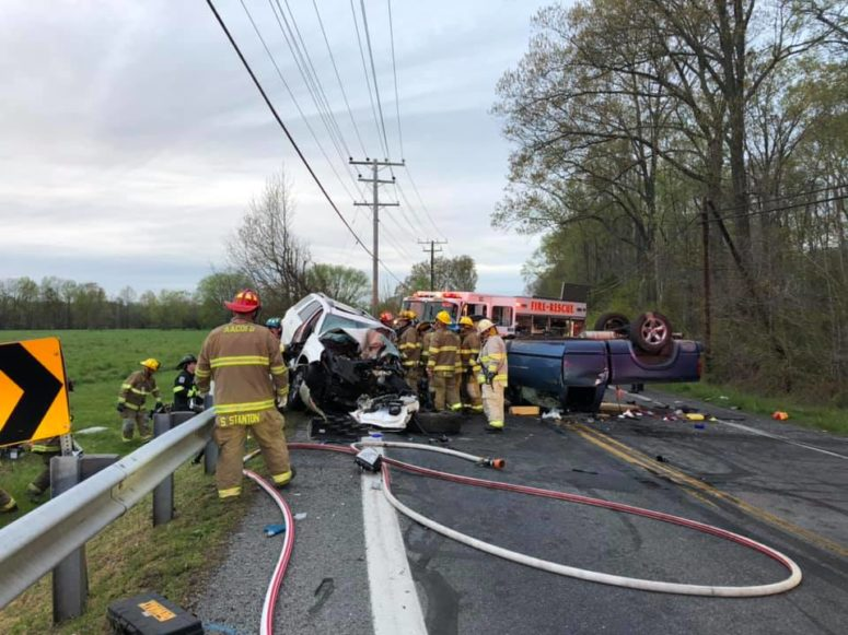 Three Transported to Area Trauma Centers After Head-on Collision in West River