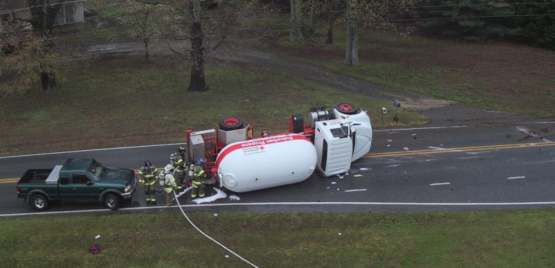 No Injuries Reported After Overturned Propane Truck Causes Evacuations in Huntingtown