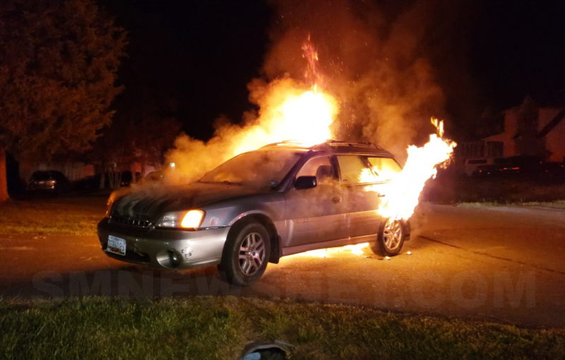 VIDEO: Firefighters Extinguish Vehicle Fire in Lexington Park, No Injuries Reported
