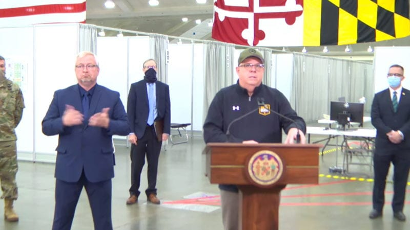 """Governor Larry Hogan Announces 12 Maryland Jurisdictions Including Charles and Calvert County as """"Hotspots"""" to Receive Federal Attention"""