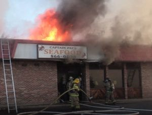 VIDEO: $300,000 in Damage, Captain Pat's Seafood Fire Deemed Accidental, in Lexington Park
