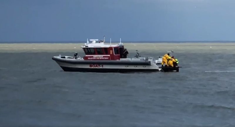 First Responders from Calvert, and Anne Arundel Save Two Men on Fishing Trip After Going Overboard in Chesapeake Bay