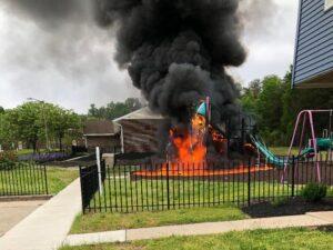 Playground Fire in Anne Arundel Causes $30,000 in Damage, Fire Under Investigation
