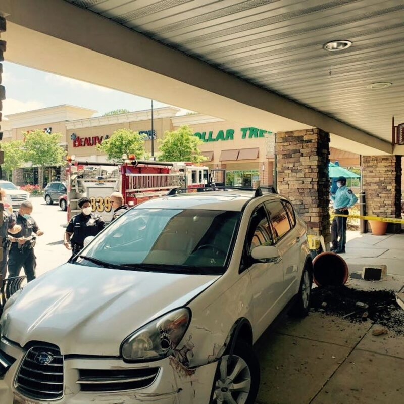 Minor Injuries Reported After Vehicle Strikes Building in Bowie
