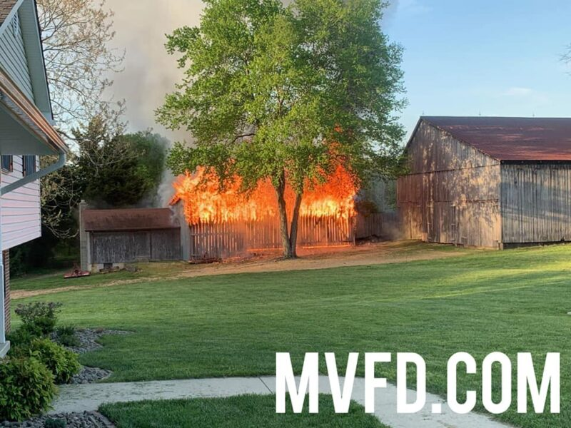 State Fire Marshal Investigating Large Barn Fire in Mechanicsville, No Injuries Reported