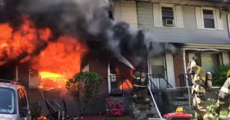 VIDEO: Smoke Detectors Alert Four Adults and Two Children of Fast Moving Structure Fire in Capitol Heights, Fire Deemed Accidental