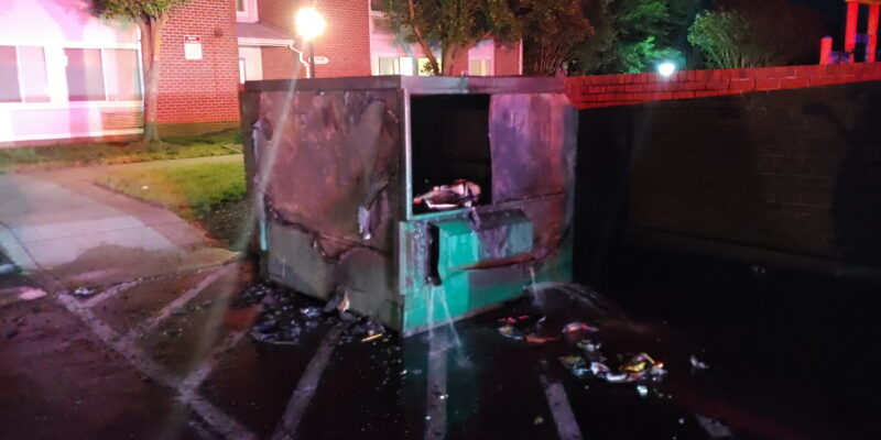 Police Investigating Arson Dumpster Fire in Great Mills