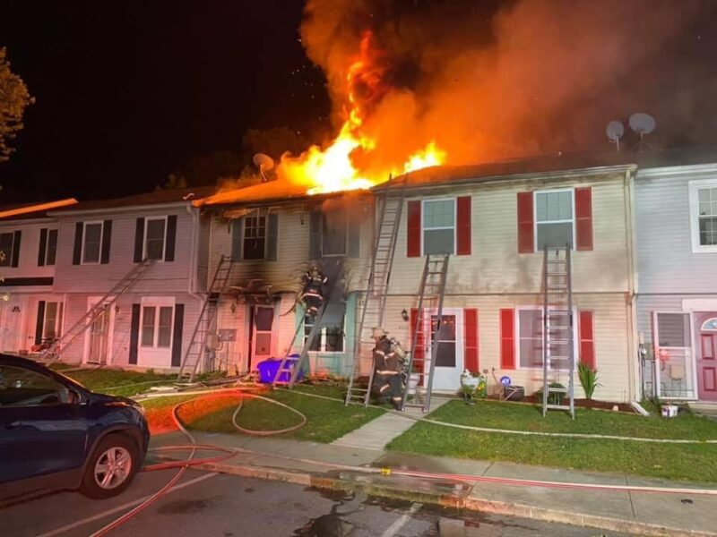 AUDIO: One Firefighter Injured After 2-Alarm Townhouse Fire in Charles County, Cause Still Under Investigation