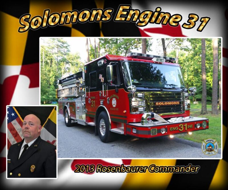 Solomons Volunteer Rescue Squad and Fire Department Dedicate Engine 31 to Career Firefighter Walter Taylor