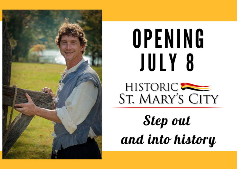 Historic St. Mary's City Set to Reopen on Wednesday, July 8, 2020