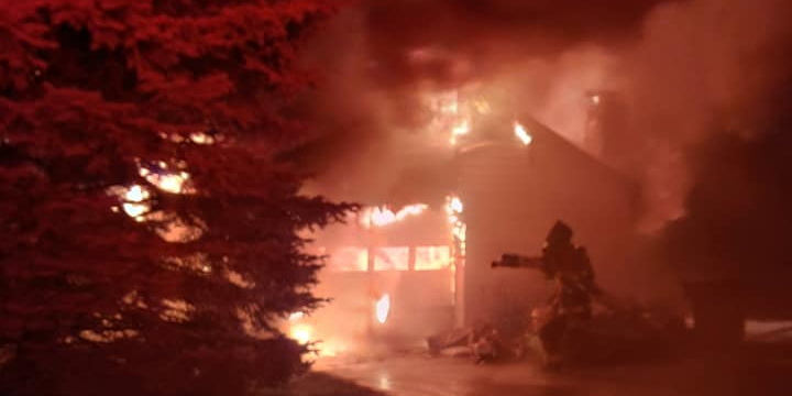 Lightning Strike Causes Garage Fire in Avenue