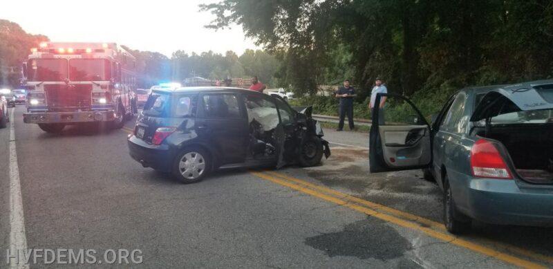 Three Injured After Head-on Collision in Hughesville