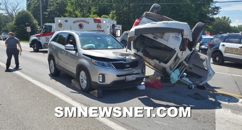 Two Injured, One Flown to Trauma Center After Rollover Collision in Mechanicsville