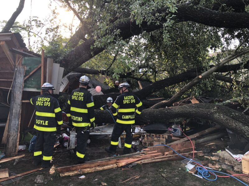 Twenty One People Injured After Large Tree Falls Onto Detached Garage During Child's Birthday Party in Pasadena