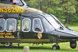 Maryland State Police Aviation Command Performs Aerial Rescue of Patient From Cargo Ship in Chesapeake Bay