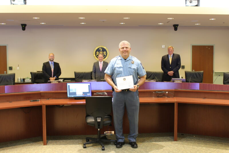County Commissioners Recognize Sheriff Tim Cameron for 40-Years of Service to St. Mary's County