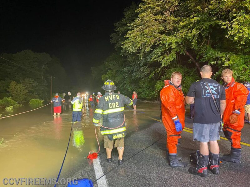 Firefighters Across Charles, Calvert, St. Mary's and Prince George's Counties Respond to Multiple Water Rescues Overnight