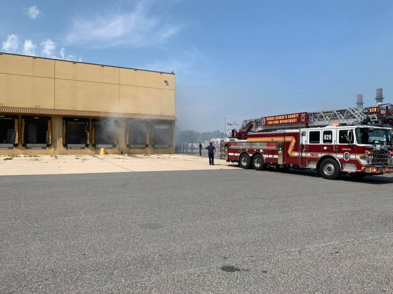 No Injuries Reported, Firefighters Quickly Extinguish Fire at Regency Furniture Warehouse in Brandywine
