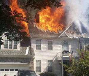 No Injuries Reported, Three Adults and Two Dogs Displaced After House Fire in Lusby