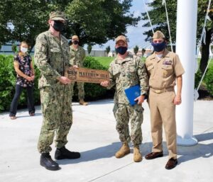 NAS Chief Aviation Machinist's Mate (AW) Matthew Ira Presented with Plaque for Exemplary Service