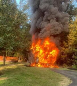 Firefighters Respond to Motorhome Fire at Firefighters Residence in Callaway