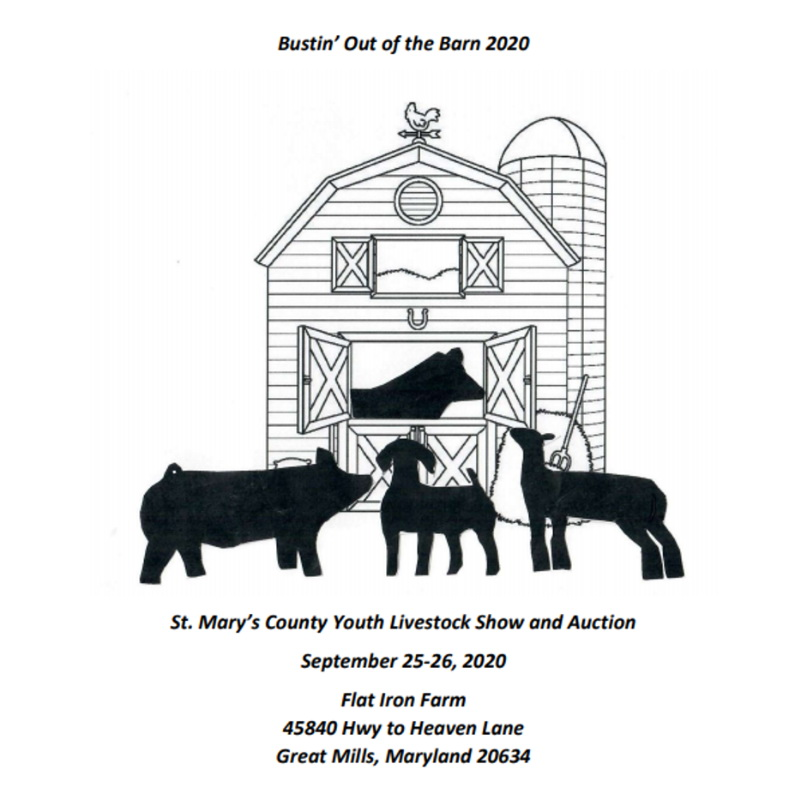 Letter to Editor: Bustin' Out of the Barn Livestock Auction to be Held on Saturday, September 26, 2020
