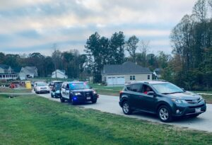 First Responders Participate in Surprise Birthday Drive-by Parade for 11-Year-Old in Prince Frederick