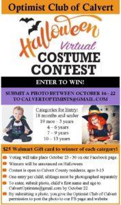 Optimist Club of Calvert Hosting First Virtual Halloween Costume Contest