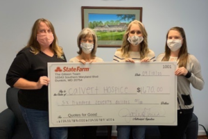 Calvert County Hospice Receives $670 Donation from State Farm