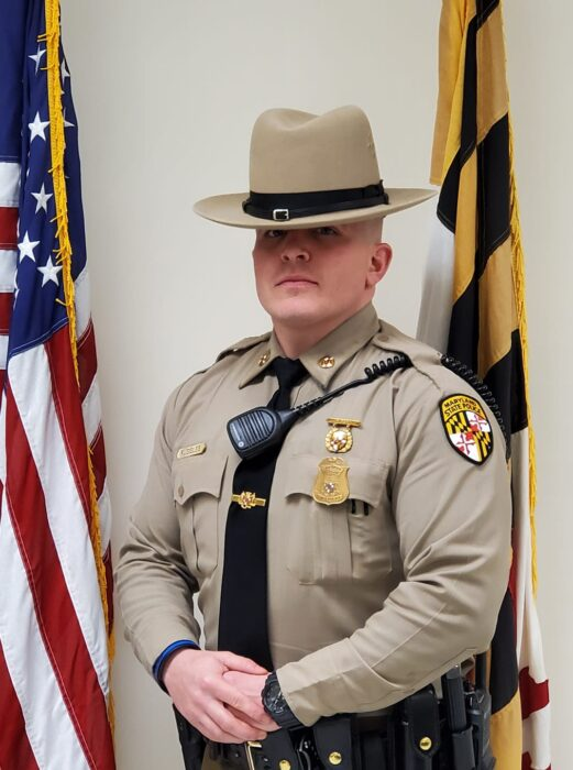 TFC E. Ruggles Congratulated as Maryland State Police Leonardtown Barrack's Trooper of the Month for October, 2020