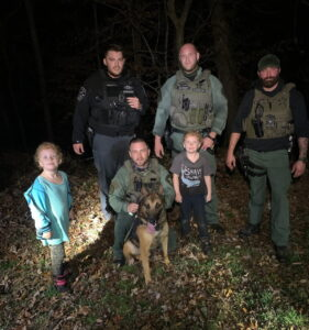Calvert County Sheriff's Office K9 and Maryland State Police Aviation Find Two Missing 7-Year-Old Twins Safe and Unharmed