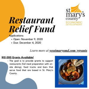 St. Mary's County Commissioners Approve Restaurant Relief Fund to Support Food Service Establishments Impacted by COVID-19
