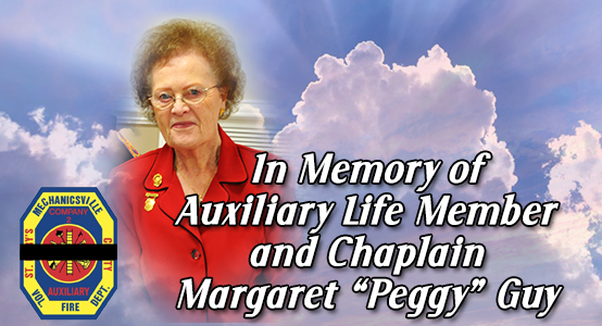 "Mechanicsville Volunteer Fire Department Auxiliary Announces Passing of Life Member Margaret ""Peggy"" Guy"