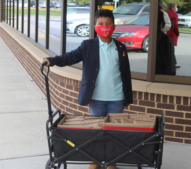 Charles County Public Schools Youth Donate Supplies to F.B. Gwynn Center