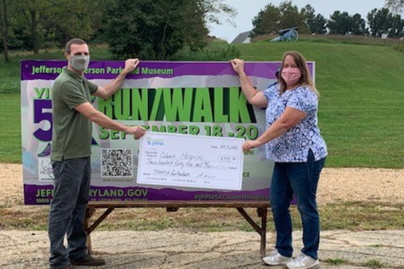 Calvert County Hospice Receives $345 from Jefferson Patterson Park and Museum Virtual 5K Run/Walk