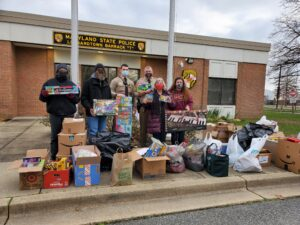 Maryland State Police Leonardtown Barrack Partners With Southern Maryland Charities to Assist Families in Need