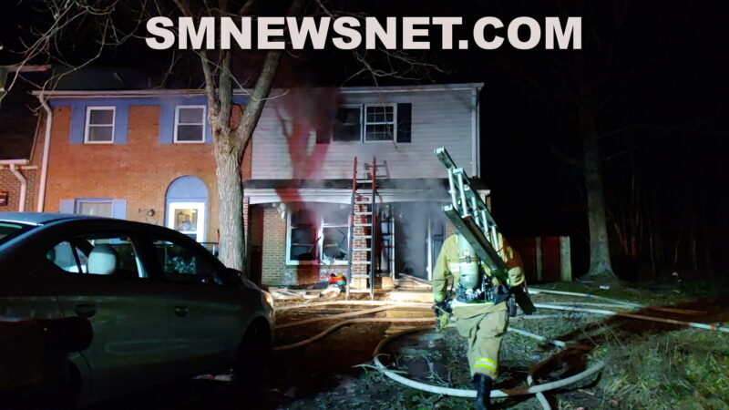 VIDEO: Five Displaced After House Fire in Lexington Park, No Injuries Reported