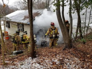 Firefighters Respond to Garage Fire in Dameron During Snowstorm, Cause of Fire Under Investigation