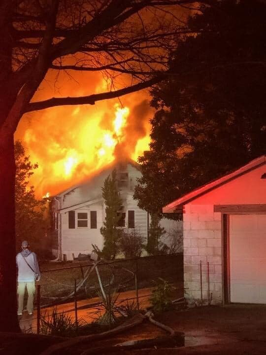 AUDIO: Two Firefighters and One Home Occupant Injured After House Fire in Bushwood